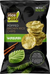 Rice Up Wasabi ízű rizs chips 60g        24/#