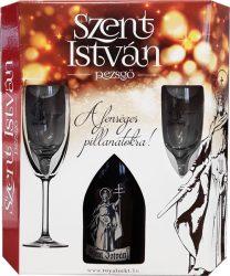 Szent István Extra Dry pezsgő 0.75 DD+2pohár