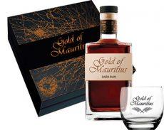 Gold of Mauritius Dark Rum 0.7 PDD+pohár (40%)